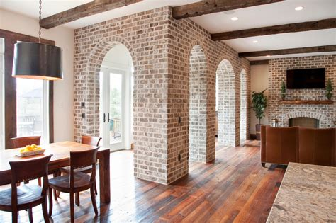 painting brick house living room traditional with arches brick brick arch beeyoutifullife
