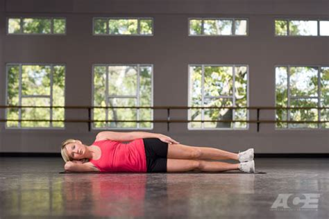 ace fit ab exercises side lying hip abduction