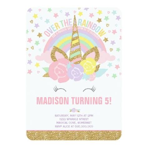 unicorn birthday card template invitation maker unicorn images invitation sle and