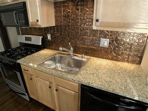 pressed tin backsplash kitchen dining room