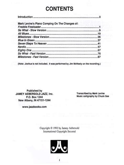 Buku Piano Jazz Voicings Vol 60 jazz piano voicings by levine volume 50 davis piano sheet sheet