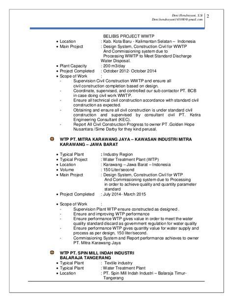 Resume N Cv Resume Cv Deni Hendrayani Update 24 May 2015