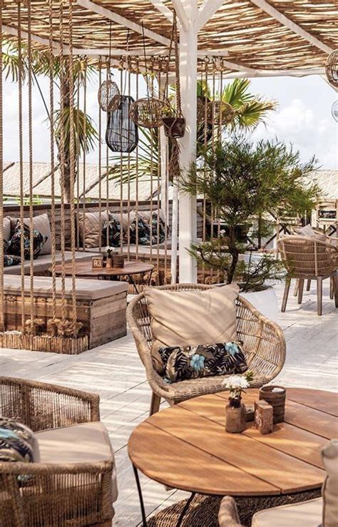 pin   bamboostrawwicker resort interior