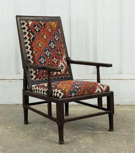 Kilim Armchair by Vintage Indian Armchair Upholstered In Vintage Kilim Rug