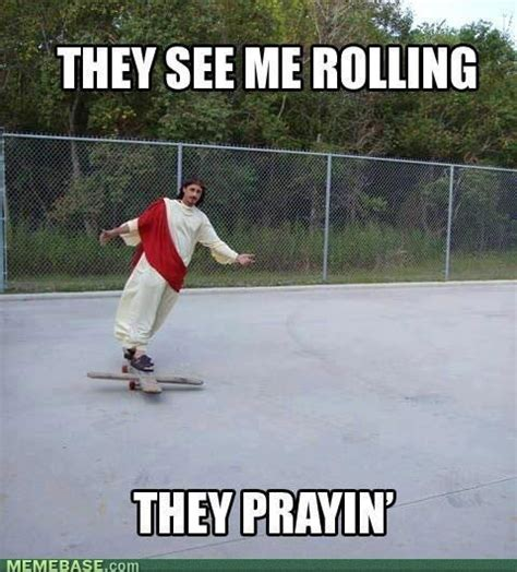 Skateboarding Memes - skateboarding funny cool jesus awesome meme cosplay tricks
