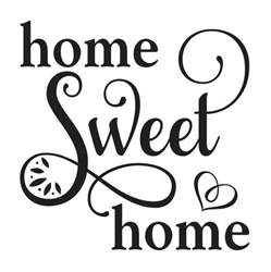 Home Stencil Primitive Stencil Home Sweet Home 12x12 For Painting