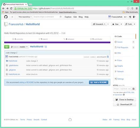 github tutorial codeschool visual studio github integration tutorialfrancois malgreve