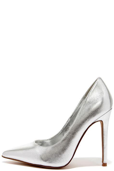 silver high heels pumps pretty silver pumps pointed pumps silver heels 34 00