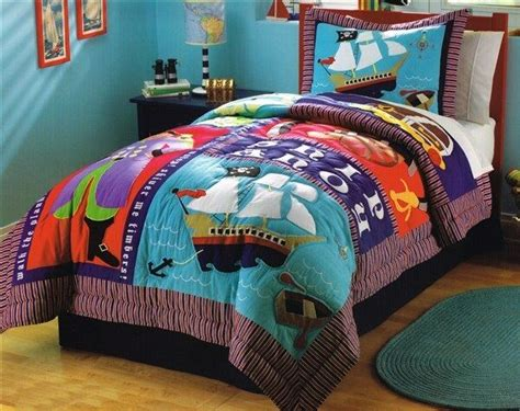 pirate comforter queen boys pirate ship treasure quilt sham bedding set new