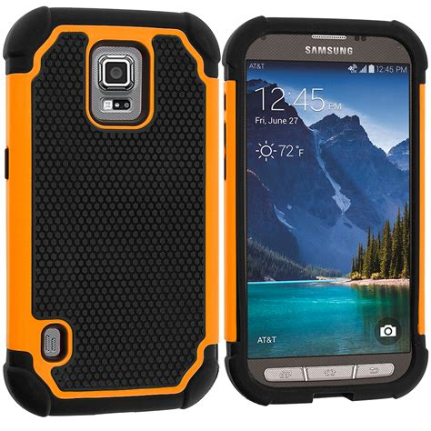 Samsung S5 Rugged by For Samsung Galaxy S5 Active Hybrid Rugged Shockproof