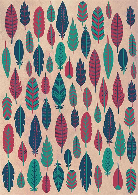 feather pattern tumblr emily rose illustration feather patterns