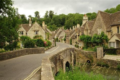 john menard house looking up water street from the brook castle combe by john menard wikimedia