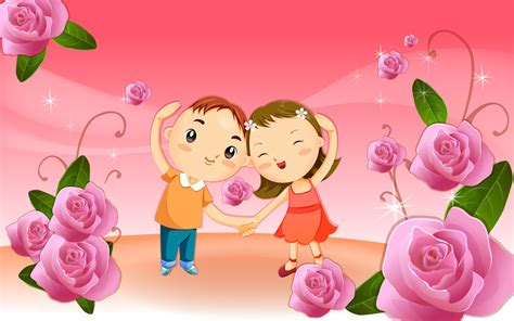 wallpaper of couple cartoon cute cartoon couple wallpaper 7435