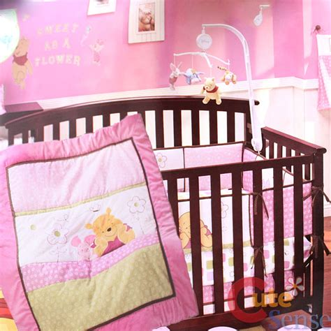 Winnie The Pooh Crib Bumpers by Winnie The Pooh With Piglet Baby Crib Bedding Set Pink