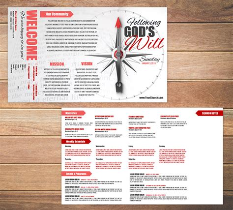 free templates for church bulletins free church bulletin templates 8 professionally designed