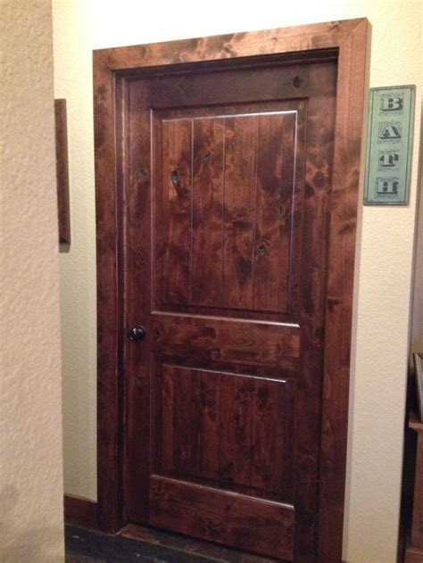 Staining Interior Doors Stained Knotty Alder Doors Trim So Rustic My Country