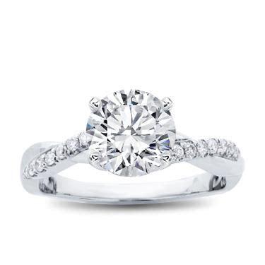 twist engagement ring setting r3050