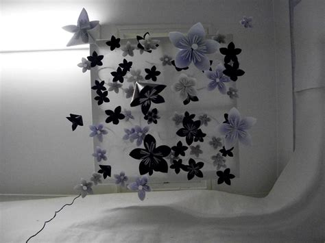 Origami Flower Mobile - origami flower mobile installation by axolotlj96 on deviantart