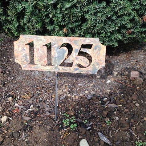 Address Plaques For Yard - address sign custom metal plate plaque wall mount or stake