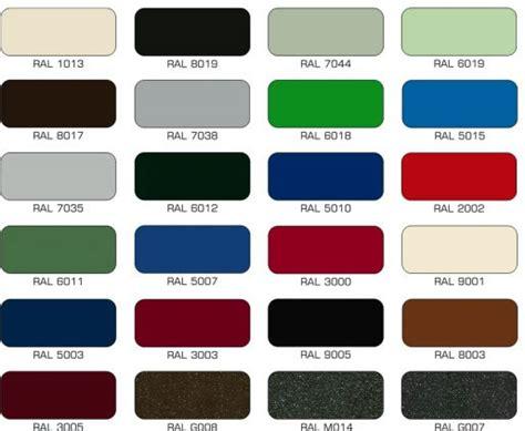 tavola colori ral automation doors portoni residenziali sezionali portoni