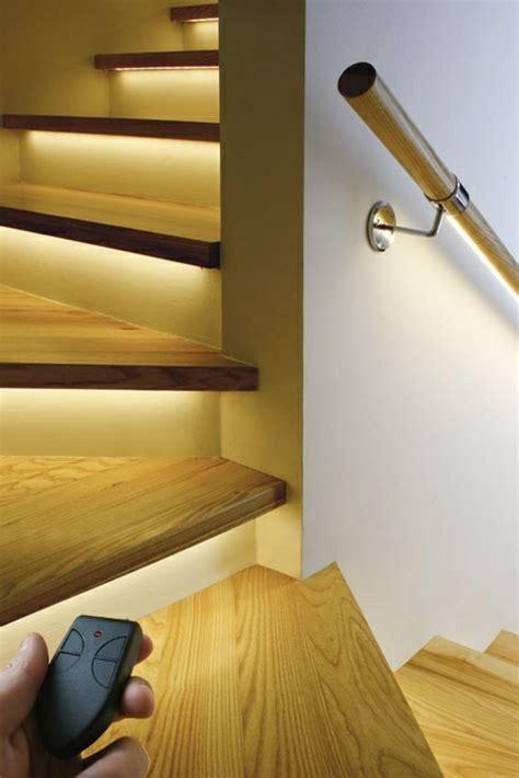 schöne treppen sehr originelle ideen f 252 r led treppenbeleuchtung