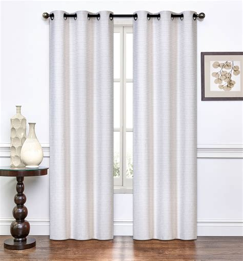ivory curtain pair of lynette ivory window curtain panels w grommets
