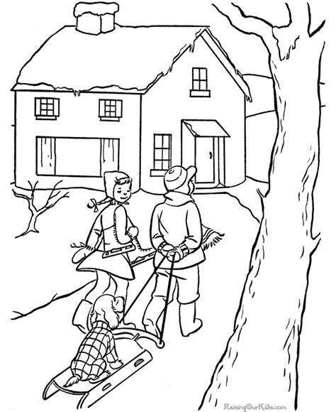 free winter coloring pages for kids printable new