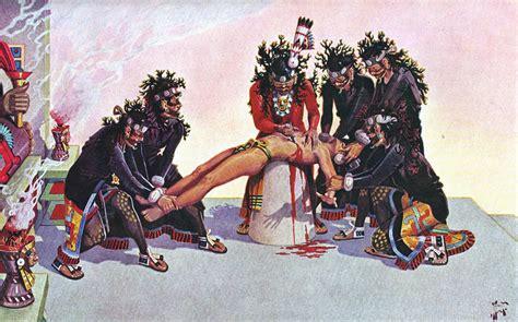 imagenes sacrificios mayas aztecas bajo el reino del dios de la guerra ilustraciones