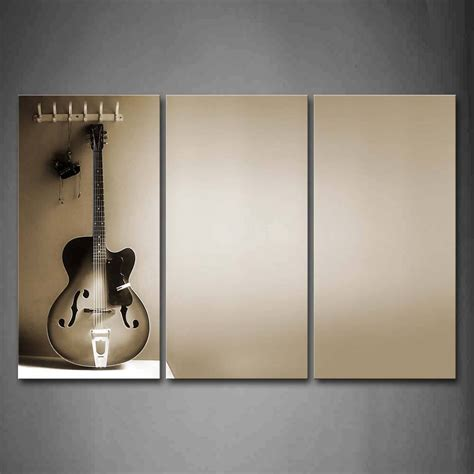 wall decor guitar 20 inspirations of guitar canvas wall art