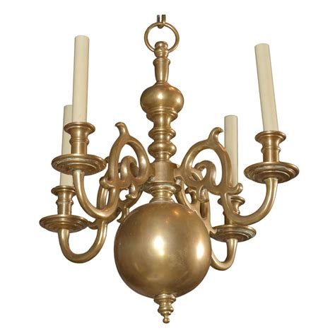 Country Style Chandelier Style Quot Low Country Quot Brass Chandelier At 1stdibs