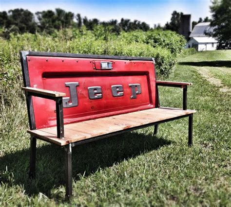 truck bench blue collar bench pickup tailgate bench by yesterday
