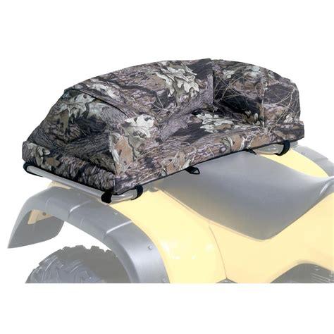 atv carrier seat kwik tek 174 atv deluxe padded seat rack bag mossy oak