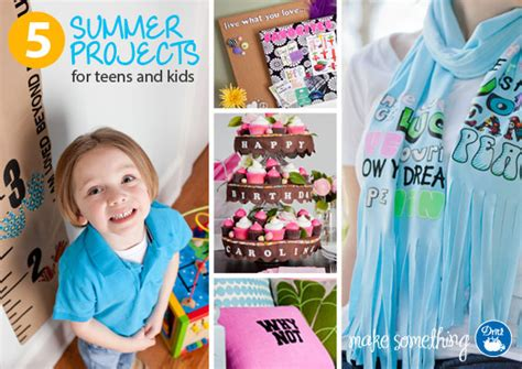 easy crafts five summer family ideas using dritz iron on letters