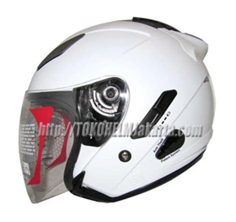 Helm Kyt Galaxy Solid White Putih toko helm jakarta