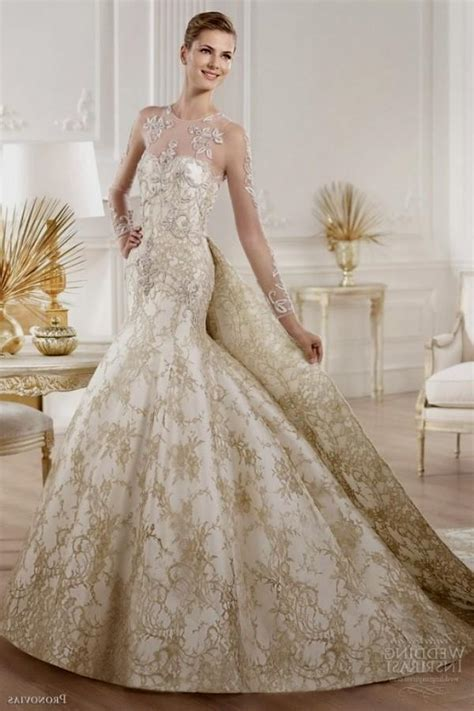 And White Wedding Dress by White And Gold Wedding Dresses With Lace Naf Dresses