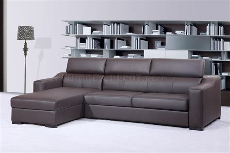 chocolate brown sectional chocolate brown italian leather modern sleeper sectional sofa