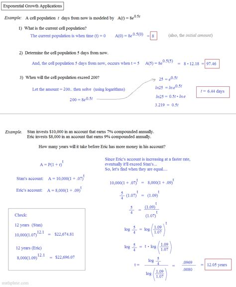 Exponential Growth And Decay Worksheet Algebra 2 Answers by Exponential Growth And Decay Worksheet Answers Match