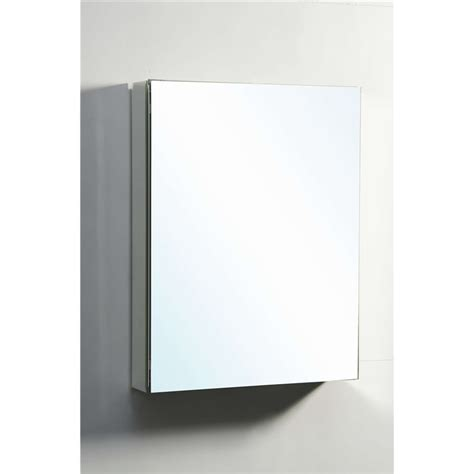 confiant 20 quot mirrored medicine cabinet recessed or surface