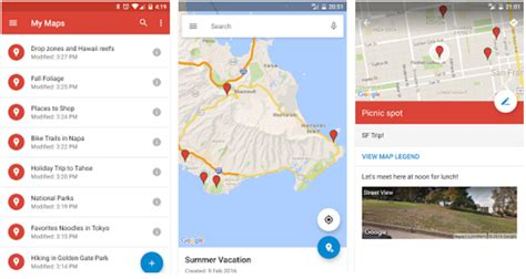 design google my way google updates my maps android app with material design