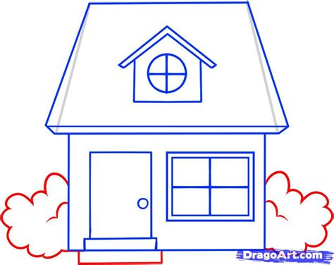 how to draw a house for kids step by step buildings