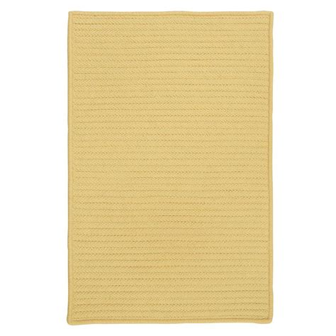 butter rugs home decorators collection solid butter 5 ft x 8 ft indoor outdoor braided area rug