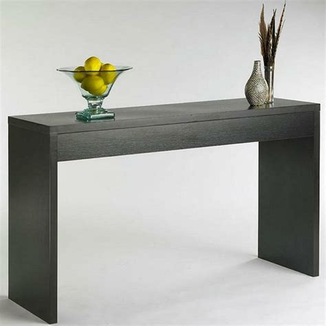 contemporary sofa table modern elegance espresso finish console sofa table entryway accent furniture ebay