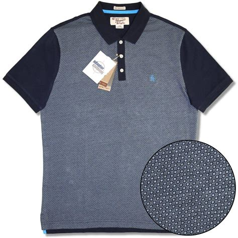 Sale Gendongan Bayi Geos Polos Navy Size M Gendongan Bayi Terlaris original penguin jacquard woven geo pattern cotton s s slim polo shirt navy adaptor clothing