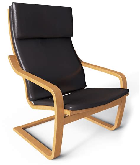 cad and bim object poang armchair