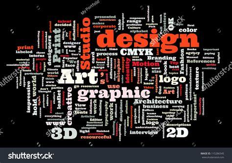design concept words graphic design studio trendy print concept stock vector