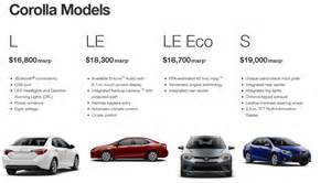 Compare Toyota Models 2014 Toyota Corolla Le Eco Specs And Price 2017 2018