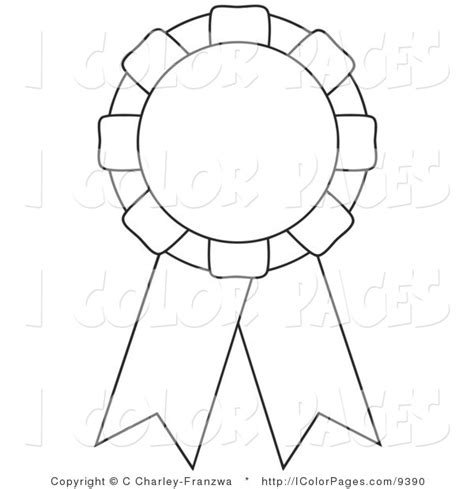 free coloring pages of 1st place ribbon
