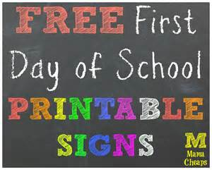 day of school sign template day of school day of school signs 2015