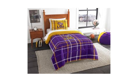 lsu bed set col 835 lsu twin comforter and sham groupon
