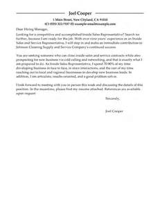 Best inside sales cover letter examples livecareer inside sales cover